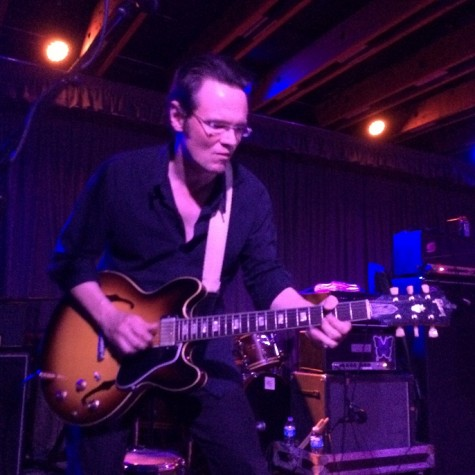 North Mississippi Allstars guitarist Luther Dickinson plays during a concert at Phoenix's Crescent Ballroom.