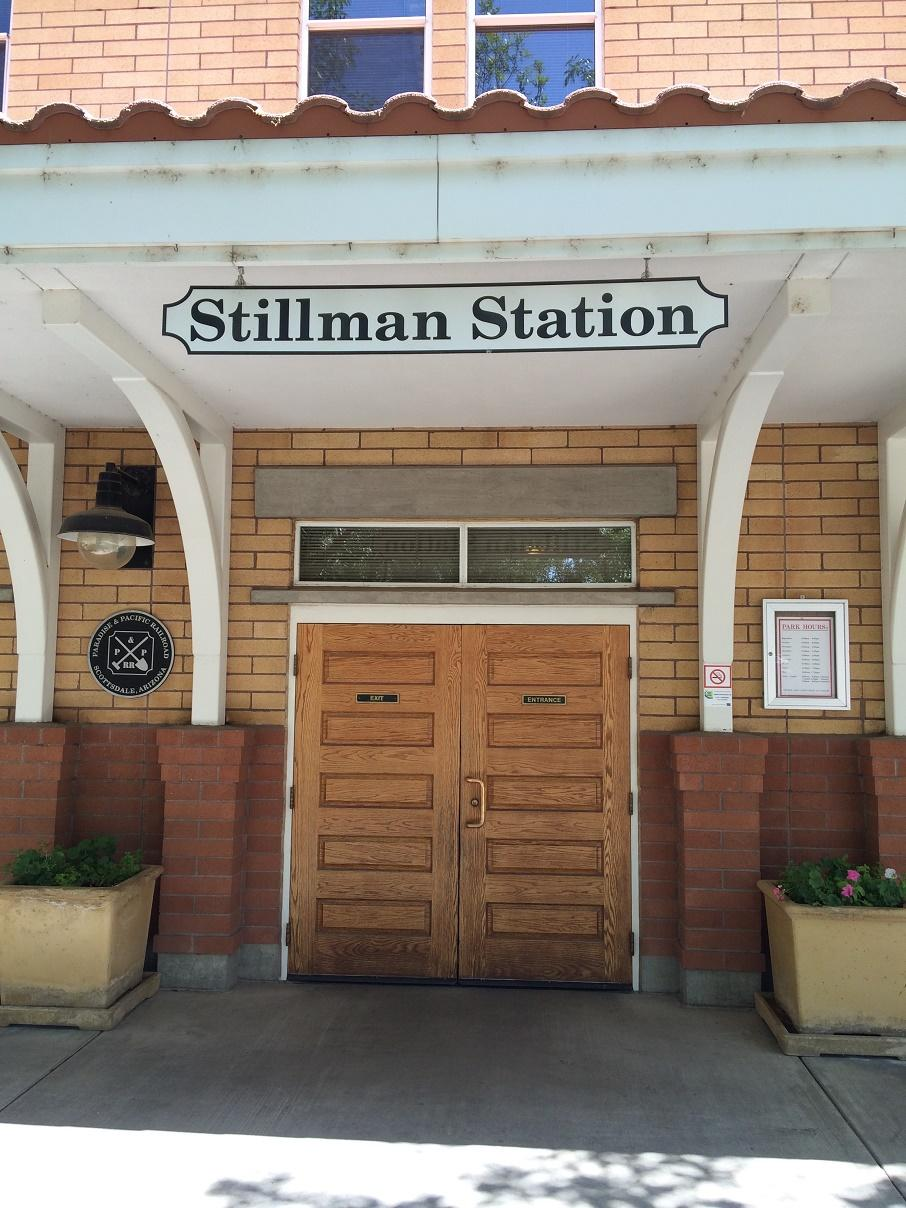 The entrance to Stillman Station. The McCormick-Stillman Railroad park will celebrate its 25th year of hosting Sunday night summer concerts this May.