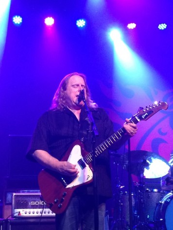 Gov't Mule guitarist and vocalist Warren Haynes performs during the first set of his group's concert at Tempe's Marquee Theatre on Sunday night.
