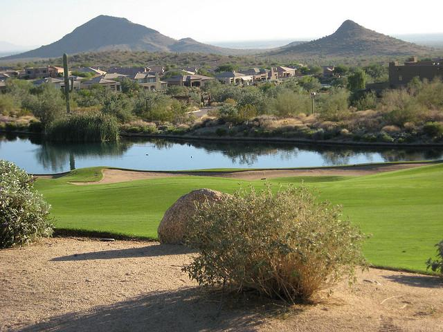 The+Eagle+Mountain+Golf+Club+in+Fountain+Hills%2C+AZ+is+one+of+many+courses+to+undergo+overseeding+this+time+of+year.