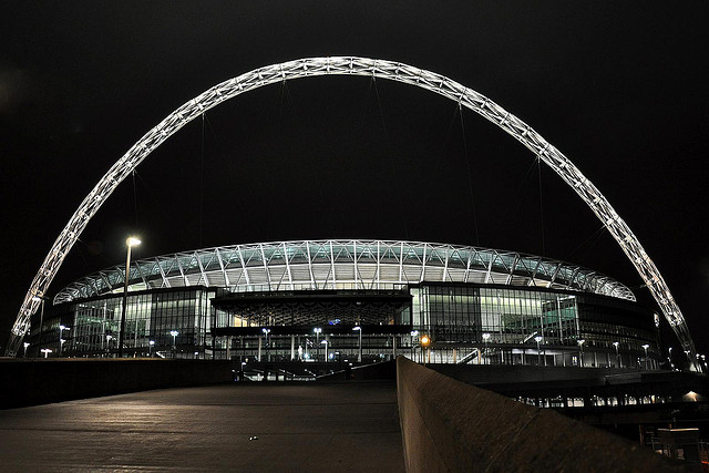 Wembley+Stadium+in+London%2C+England+primarily+serves+as+the+home+stadium+for+the+England+national+soccer+team.+