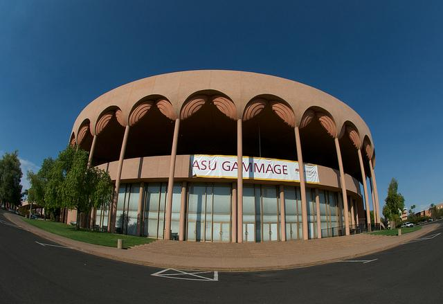 Opened+in+1964%2C+the+Grady+Gammage+Memorial+Auditorium+is+named+for+a+former+president+of+Arizona+State+and+is+on+the+U.S.+National+Register+of+Historic+Places.