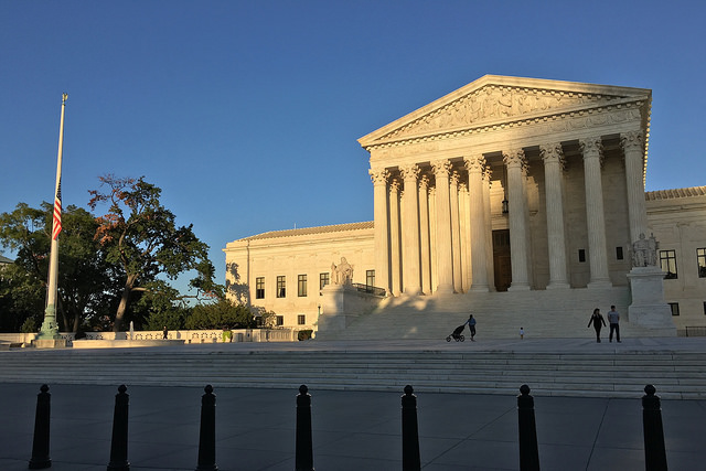 Flag at half-mast at the U.S. Supreme Court following the Umpqua Community College shooting.