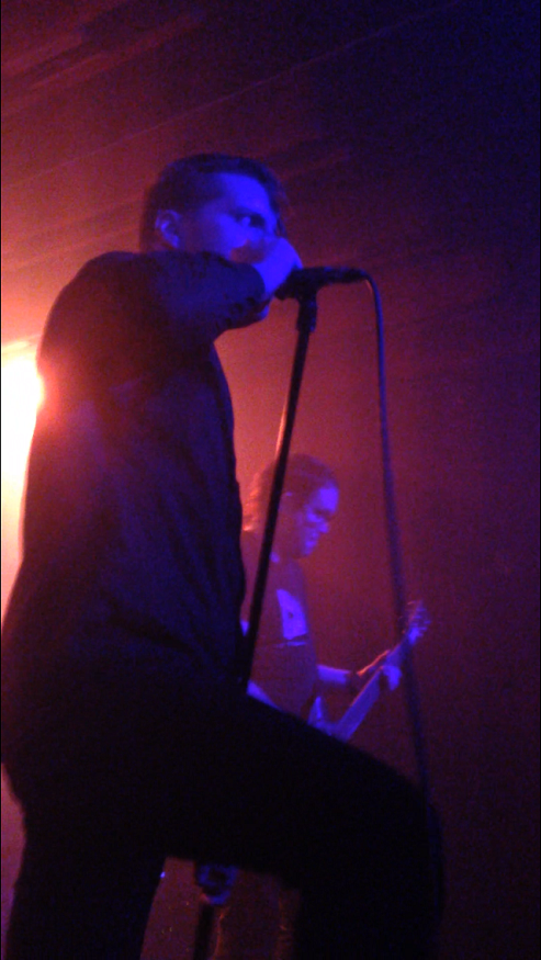 Vocalist+George+Clarke+%28left%29+and+guitarist+Kerry+McCoy+%28right%29+perform+the+song+%22Luna%22+during+Deafheaven%27s+concert+at+Phoenix%27s+Crescent+Ballroom+on+Nov.+18.