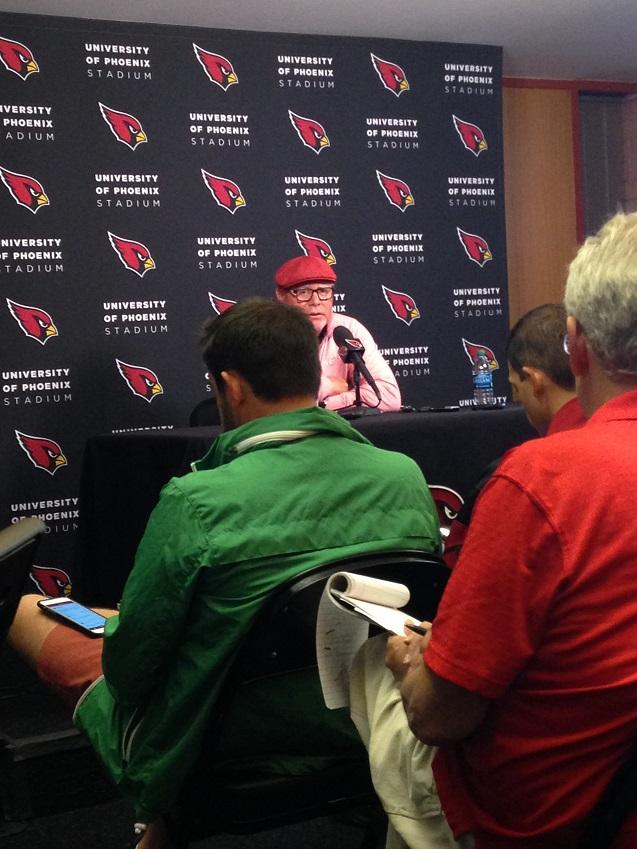 Arizona+Cardinals+head+coach+Bruce+Arians+speaks+to+the+media+at+the+team%27s+practice+facility+in+Tempe+on+Monday.+The+Cardinals+defeated+the+Bengals+34-31+on+Sunday+night.