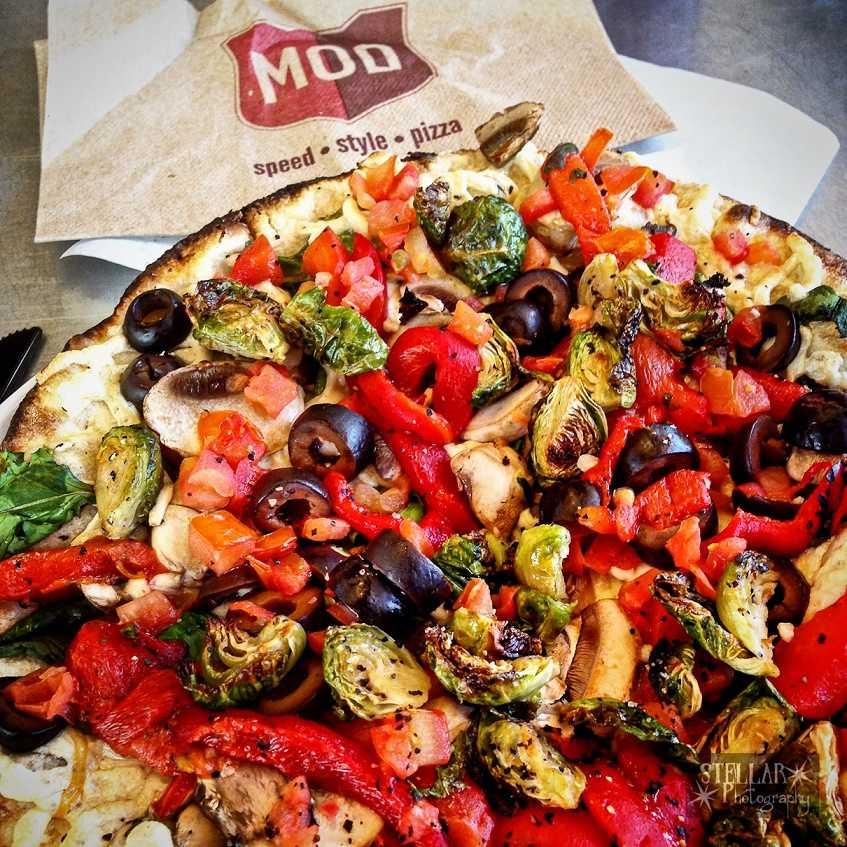 MOD's vegan pizza.