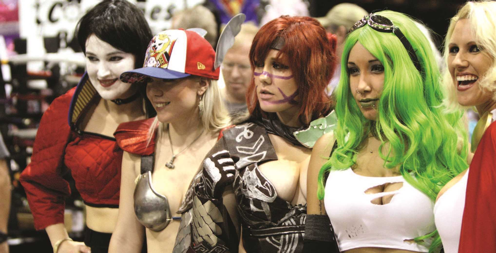 Cosplayers at the Amazing Arizona Comic Con at the Phoenix Convention Center in Phoenix.