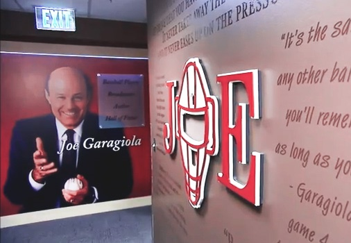 The+entrance+to+the+Joe+Garagiola+Broadcast+Booth+at+Chase+Field.
