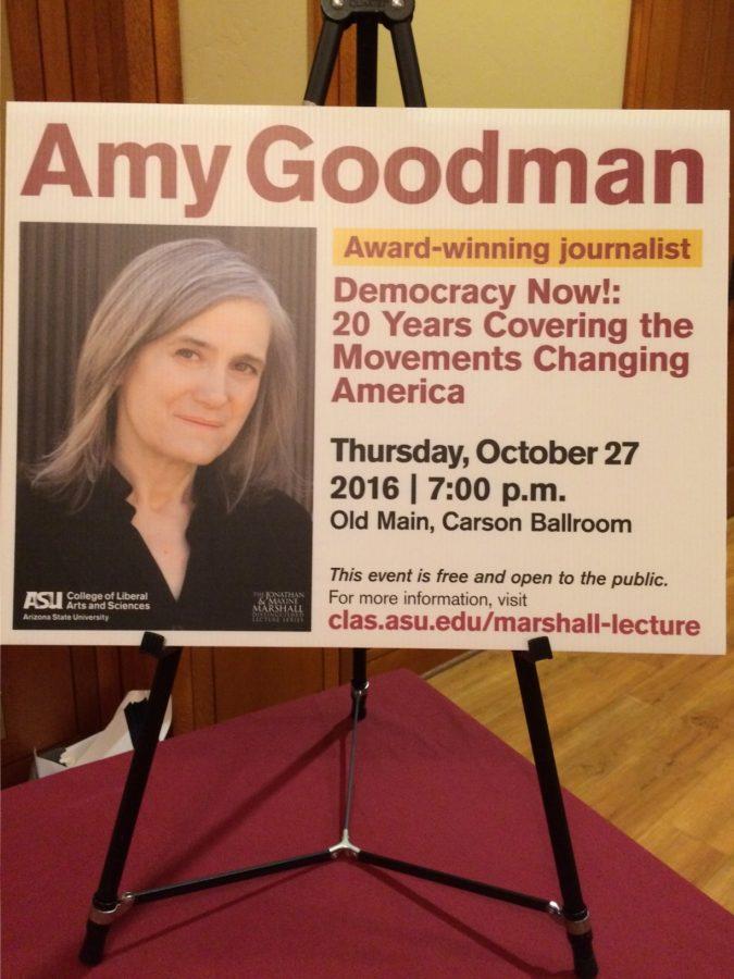 Amy+Goodman+spoke+at+ASU%27s+Tempe+campus+on+Thursday%2C+Oct.+27.