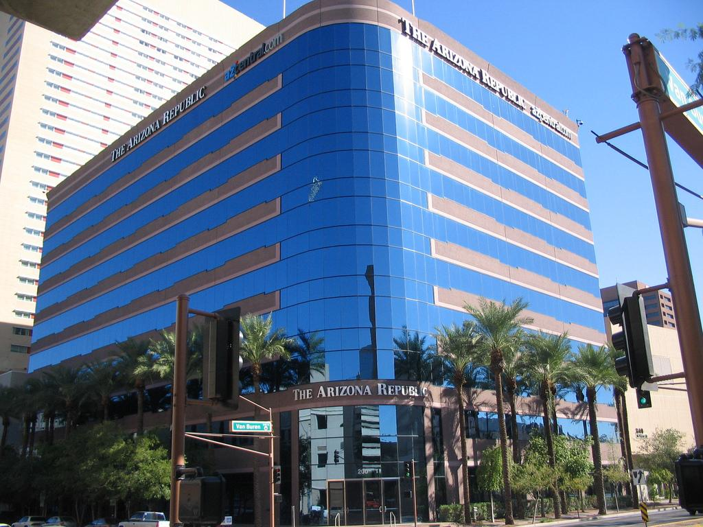 The Arizona Republic Building in downtown Phoenix. Bob McManaman has written for the Republic for more than three decades.