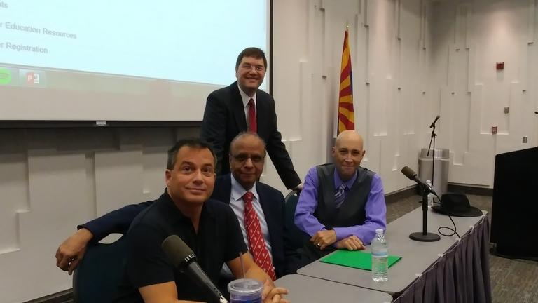 From left to right: Dr. Nicholas Damask, Dr. Mark Klobas, Dr. Dilip Kumar and Dr. Michael Valle.