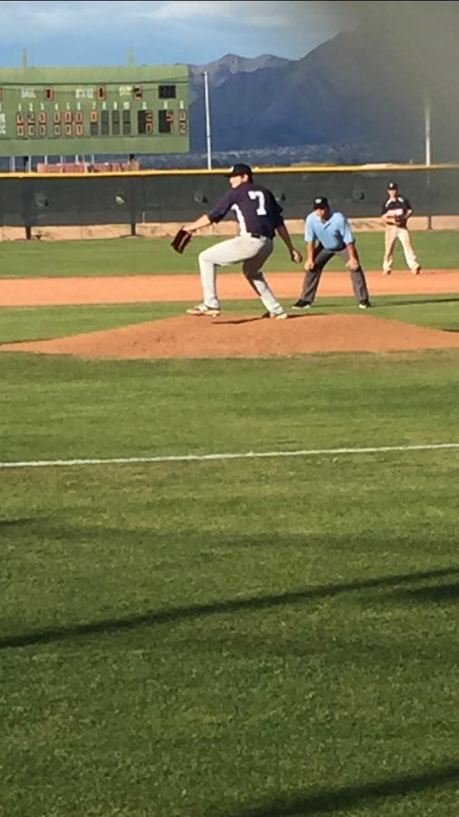 Paradise Valley Community College Pumas pitcher Matt Sweeney delivers a pitch during his teams 5-1 win at Scottsdale Community College on Tuesday, Feb. 14.
