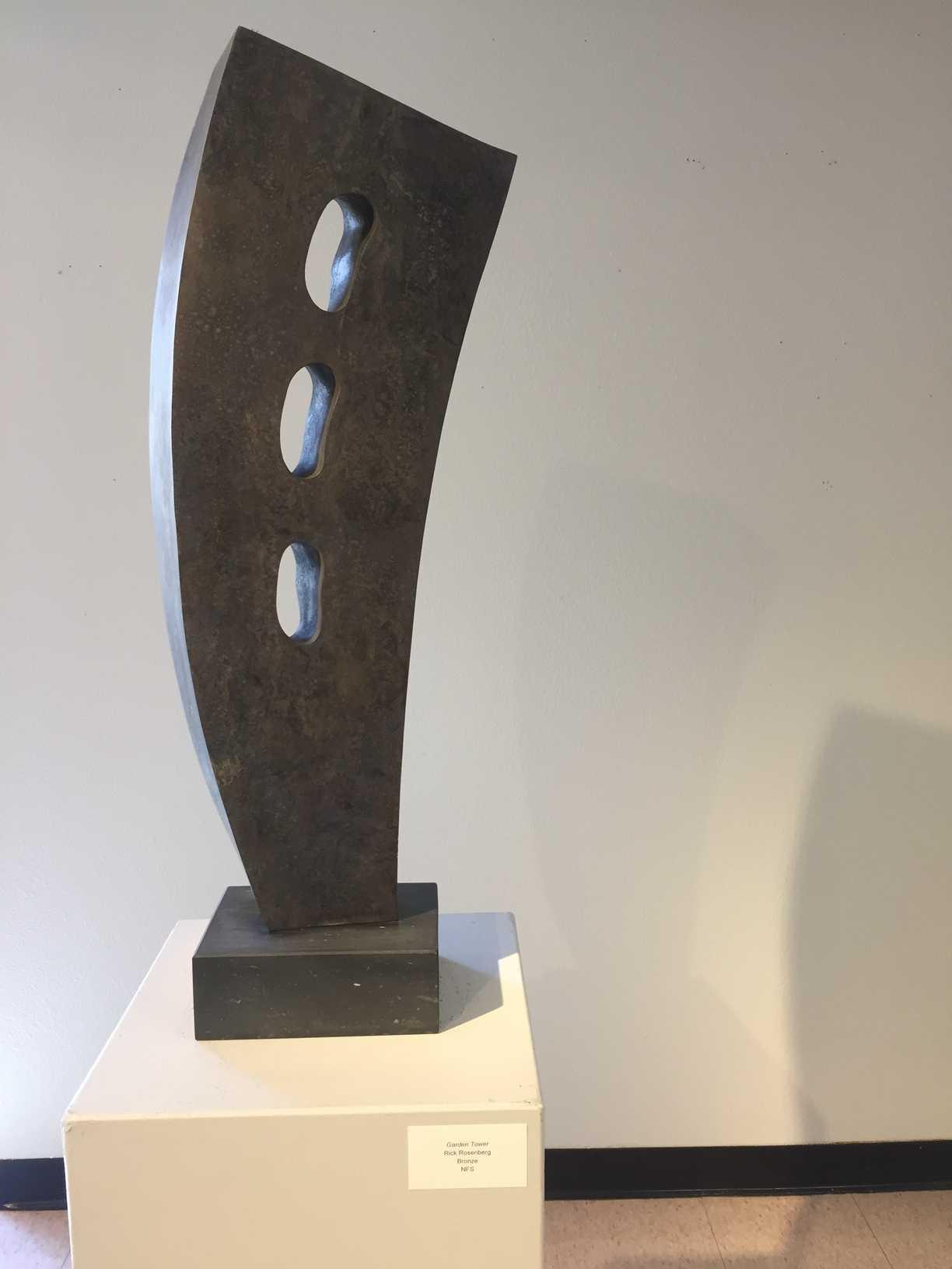 The bronze statue piece