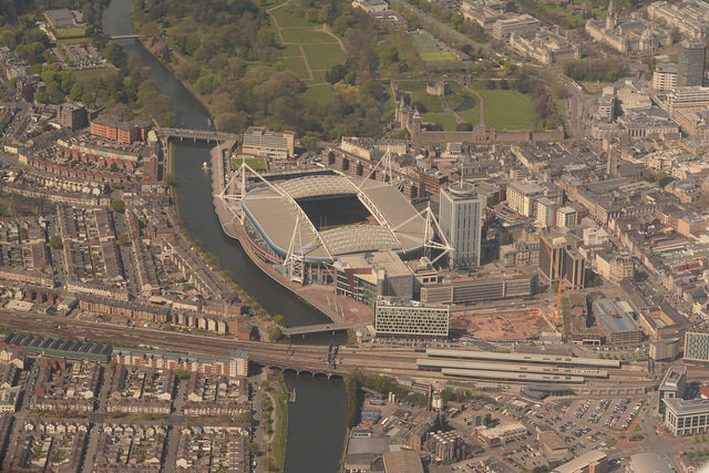 An+overhead+view+of+the+Principality+Stadium+in+Cardiff%2C+Wales%2C+the+site+of+the+2017+Champions+League+final.