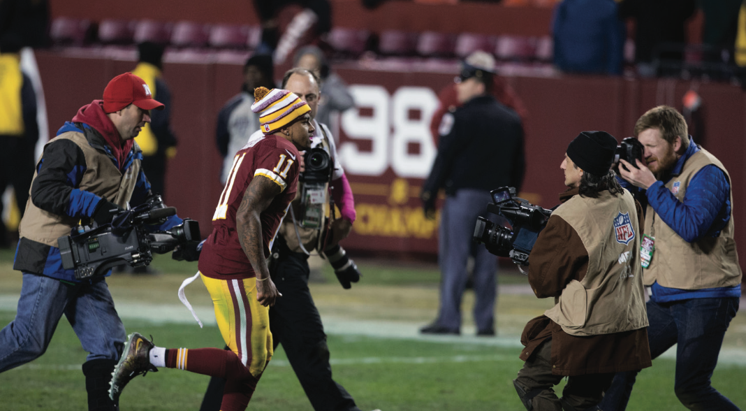 Wide receiver Desean Jackson was released by the Washington Redskins and picked up in free agency by the Tampa Bay Buccaneers on March 9, the first day of the 2017 free agency period.