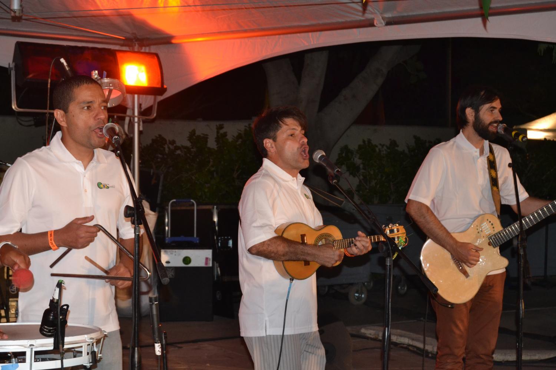 The band Grupo Cupim Do Samba performing during Brazilian Day Festival on Saturday.