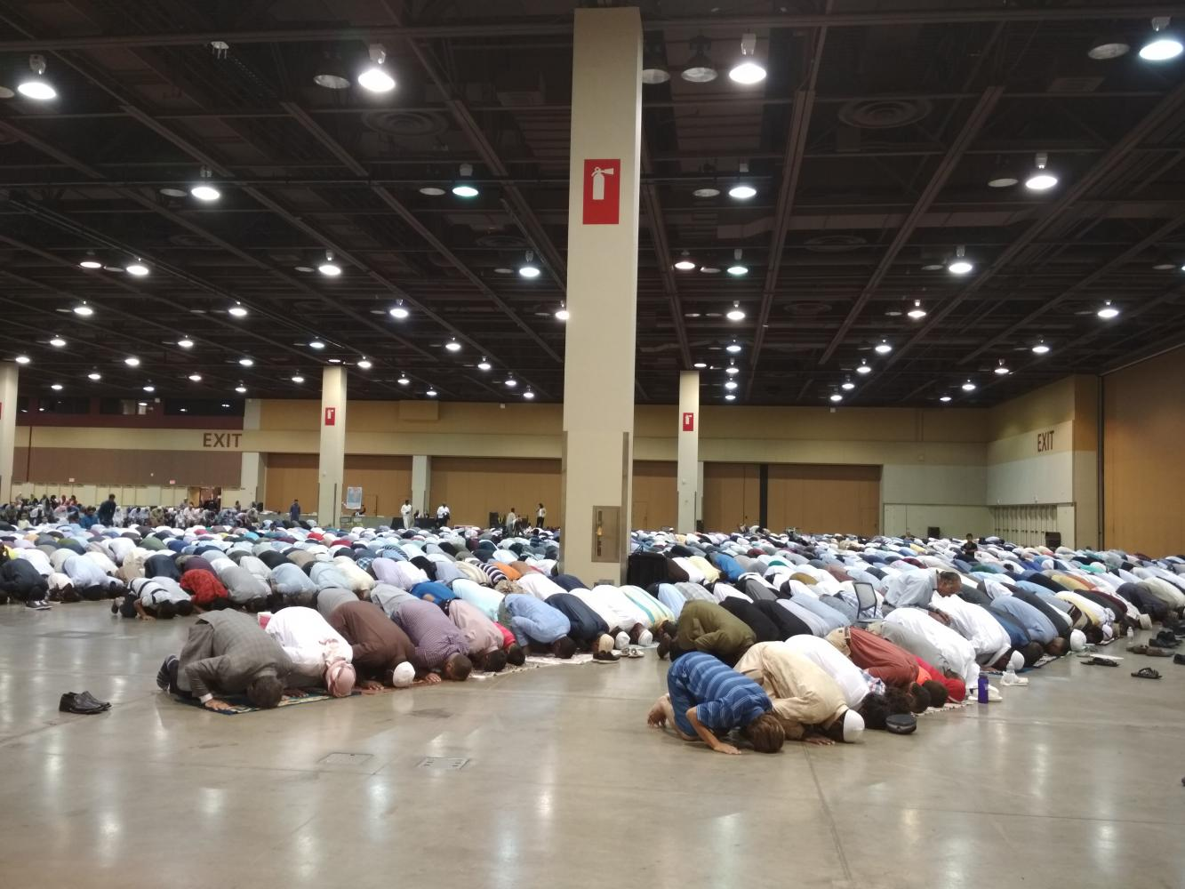The Eid prayer of Muslims at the Phoenix Convention Center