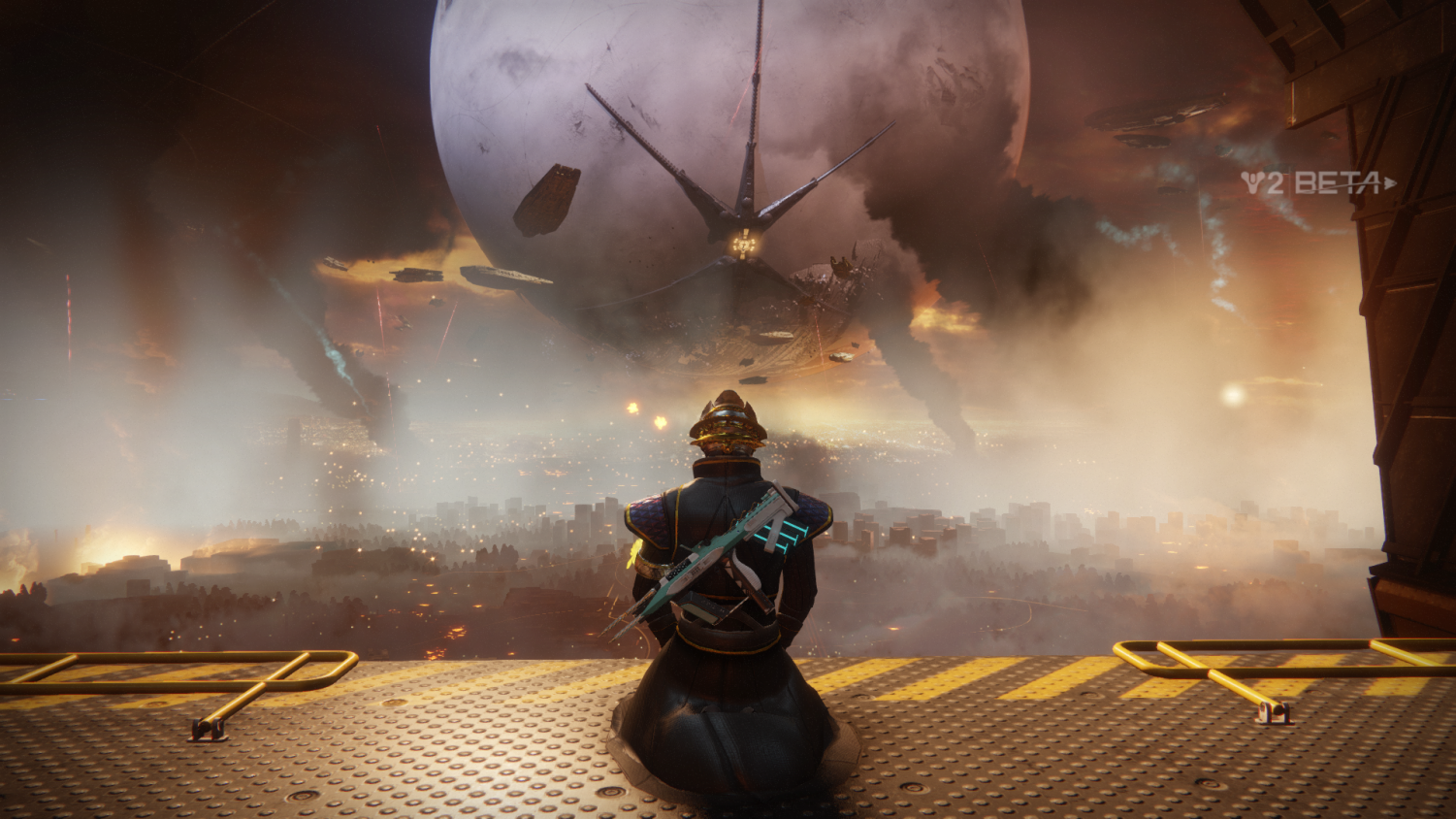Screenshot taken during the Destiny 2 Beta two months prior to its official release.