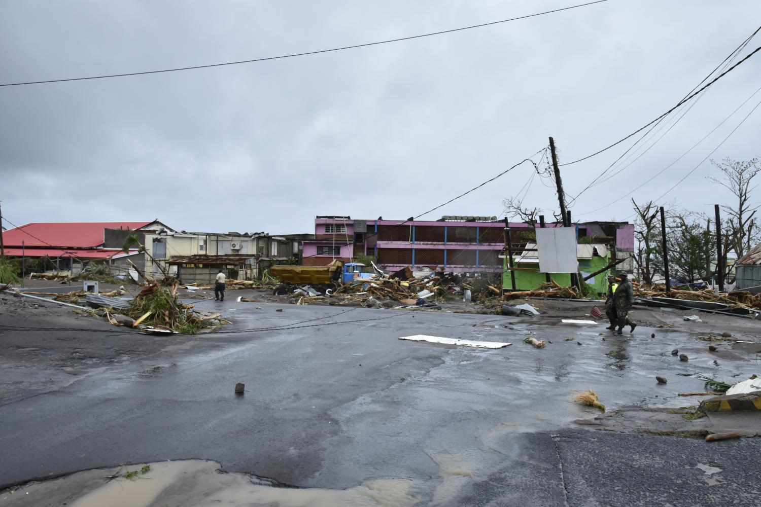 Morning after Hurricane Maria