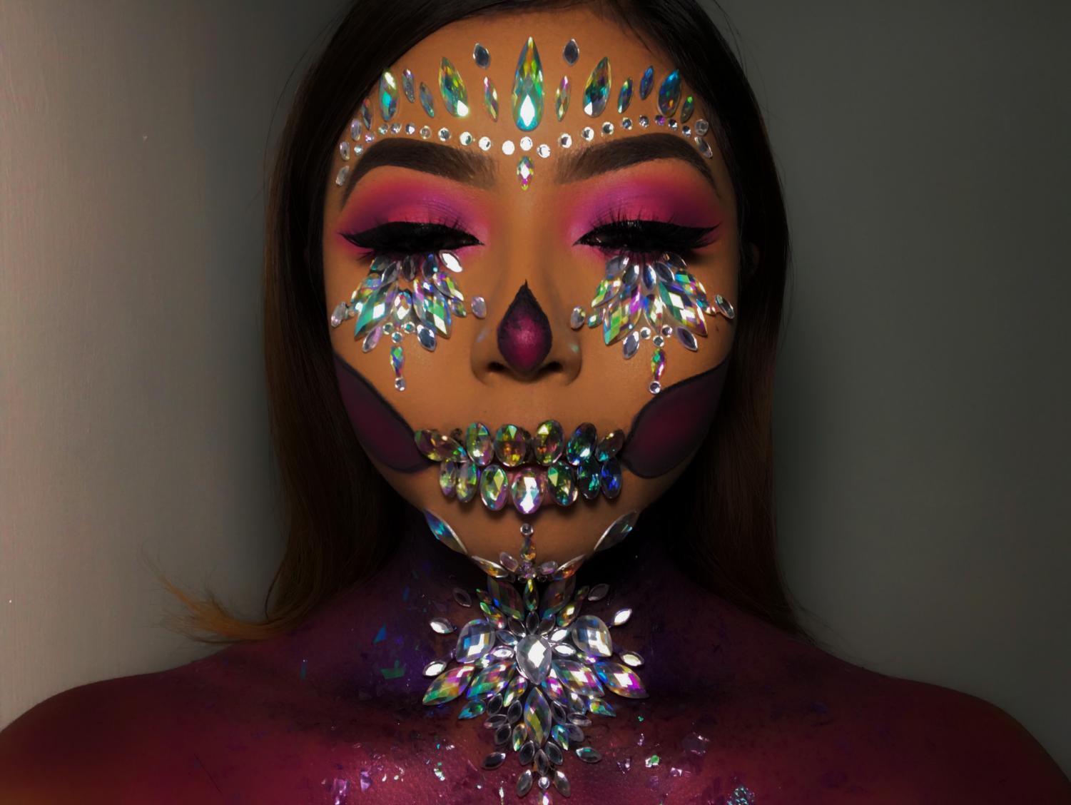 One of the works that the make-up artist does