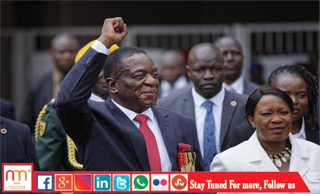 The new Zimbabwe president Emmerson Mnangagwa