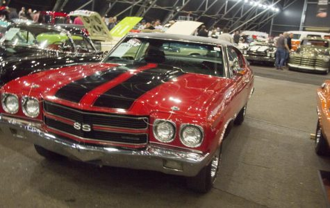 The Barrett-Jackson auction shows classic and new automobiles