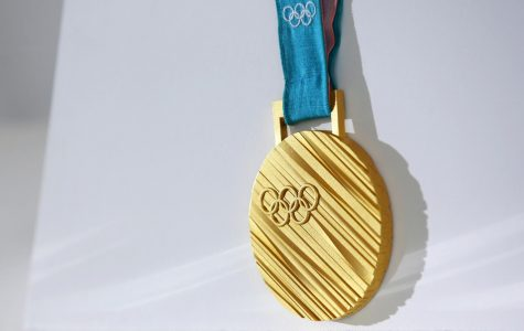 A gold medal from the PyeongChang 2018 Olympic Winter Games