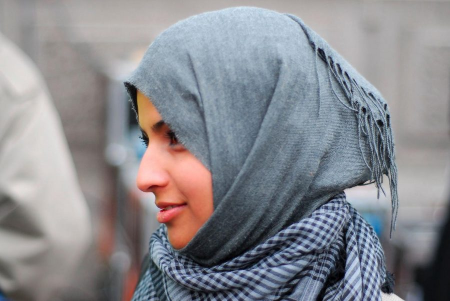 A woman in her hijab