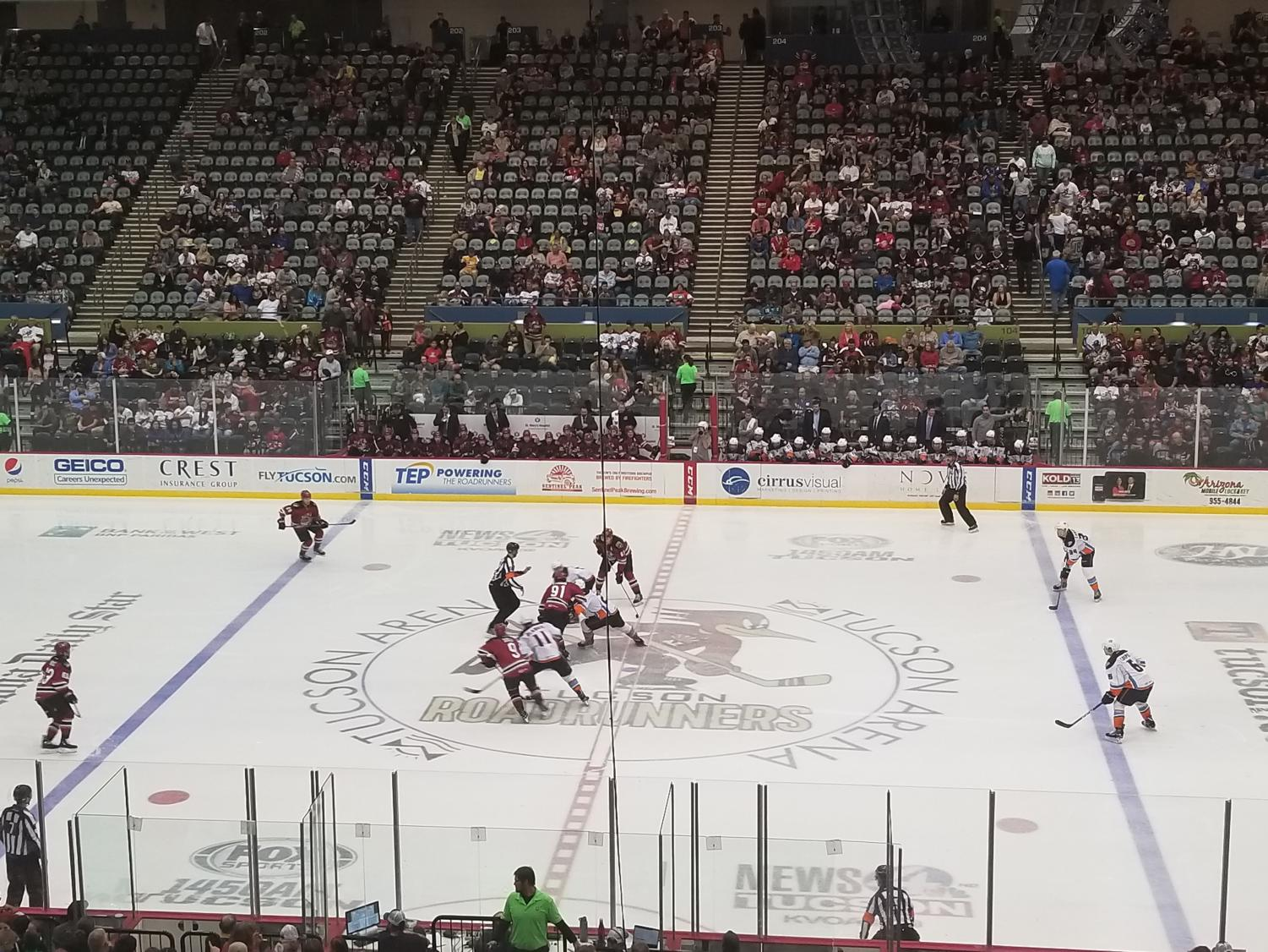 Roadrunners and Gulls at the start of the 3rd period