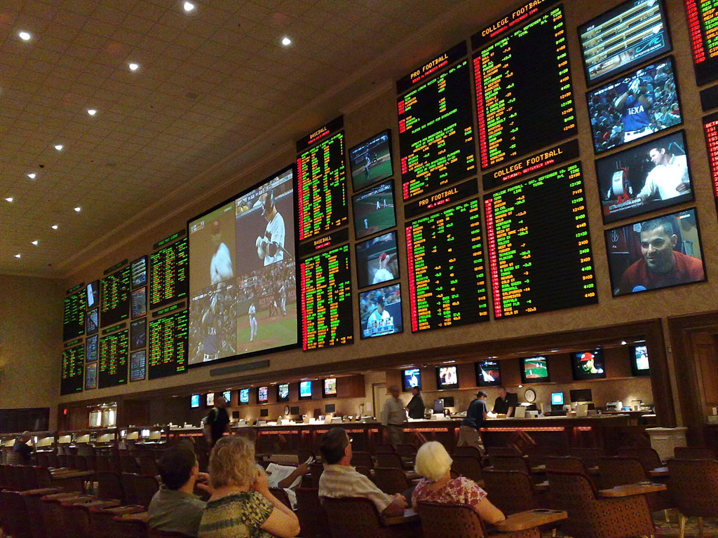 One of the many sports books in a Las Vegas casino.