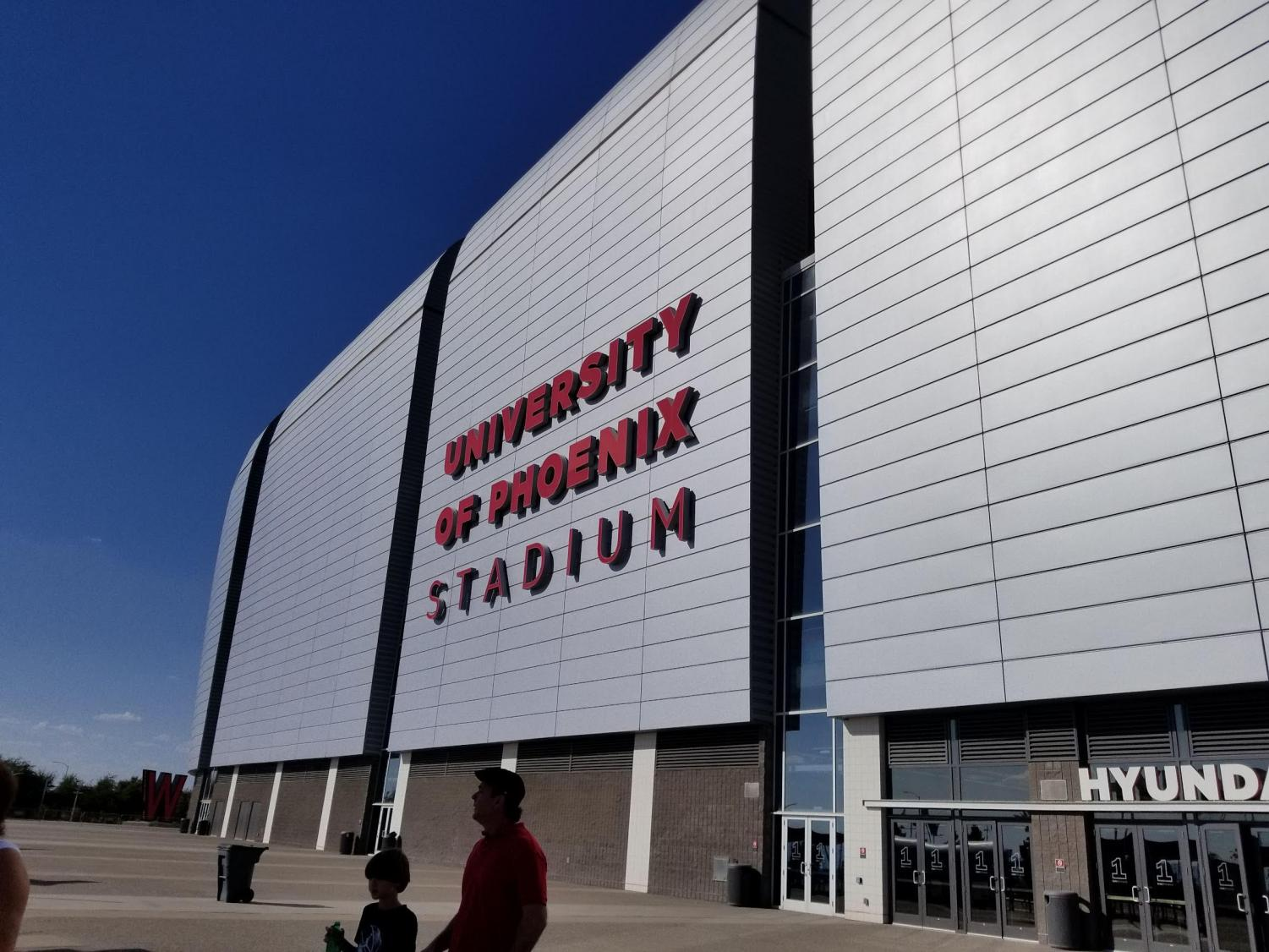 Outside of University of Phoenix Stadium.