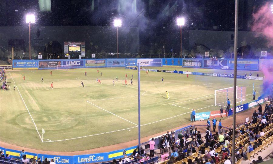Cashman Field view from the pressbox