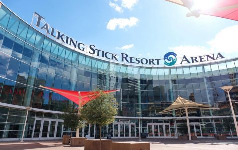 Courtyard of Talking Stick Resort Arena, home of the Phoenix Suns.
