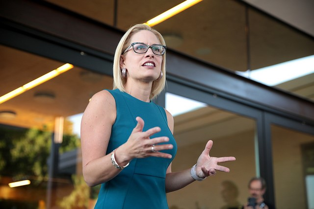 Sinema during her campaign.