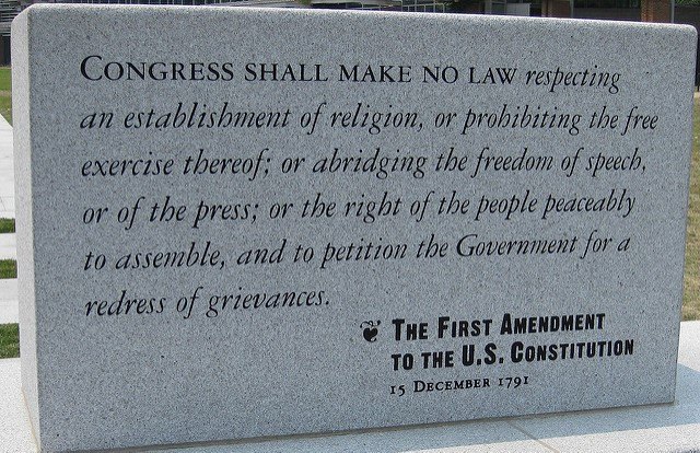 First Amendment to the U.S. Constitution, Independence Park, Philadelphia
