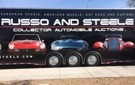 A trailer/billboard for Russo and Steele