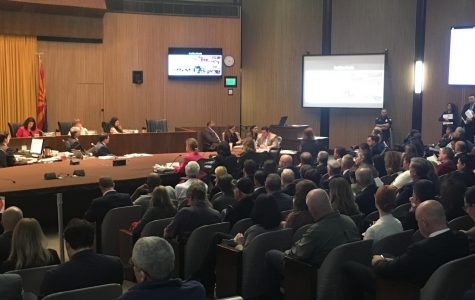 Phoenix City Council vote on Talking Stick Arena tax use renovation brings business and public input, —including alleged threats from a 1997 convicted shooter of former council member