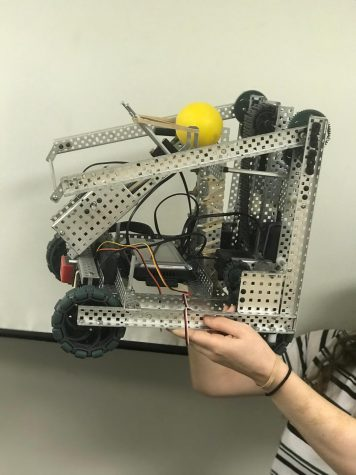 Robot created for the robotics skill challenge competition