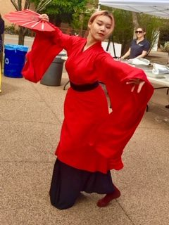A traditional dance performed on the ASU campus during Lunar New Year celebration