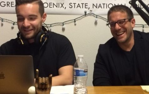 Jake Anderson and Joe Rossiello talk Roma soccer. (Ole Olafson)