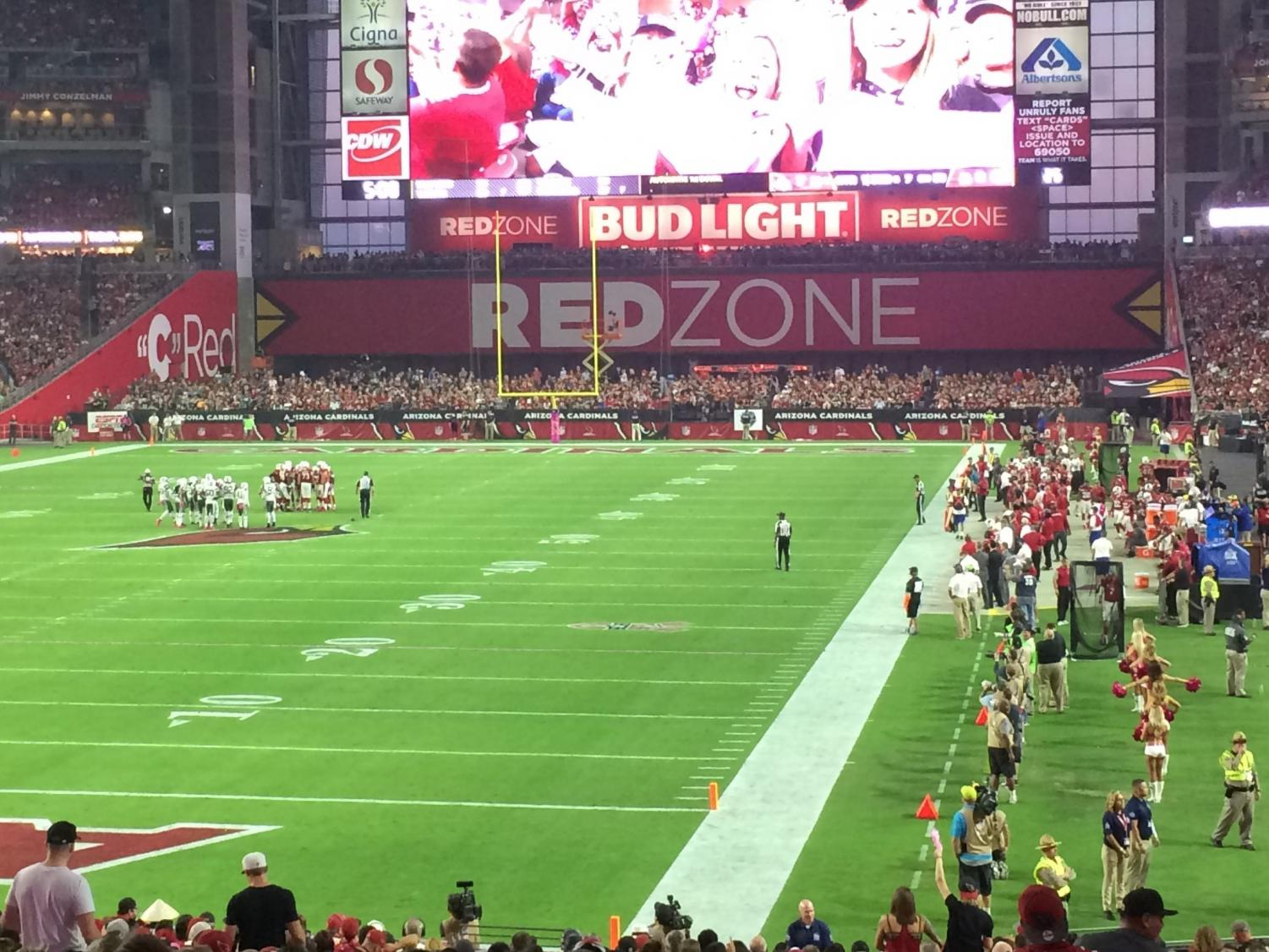 Inside State Farm Stadium during a Cardinals game