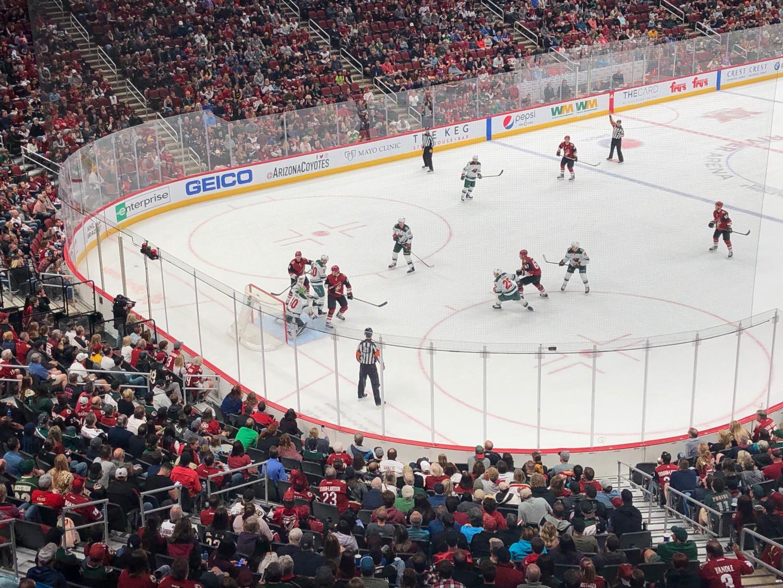 Coyotes vs Wild, Gila River Arena Sunday (NEVN/Adin Vilasevic)