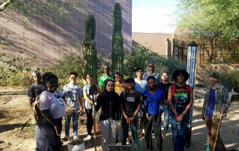 Clean Up 9/11 Memorial Garden – CCI Participants at SCC