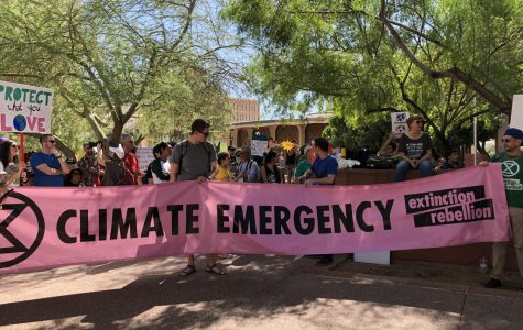 Youth activists protesting for a climate emergency