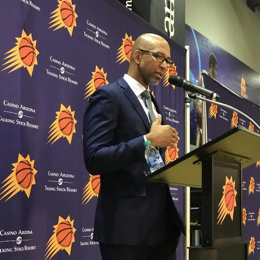 Suns+coach+Monty+Williams+at+a+previous+press+conference