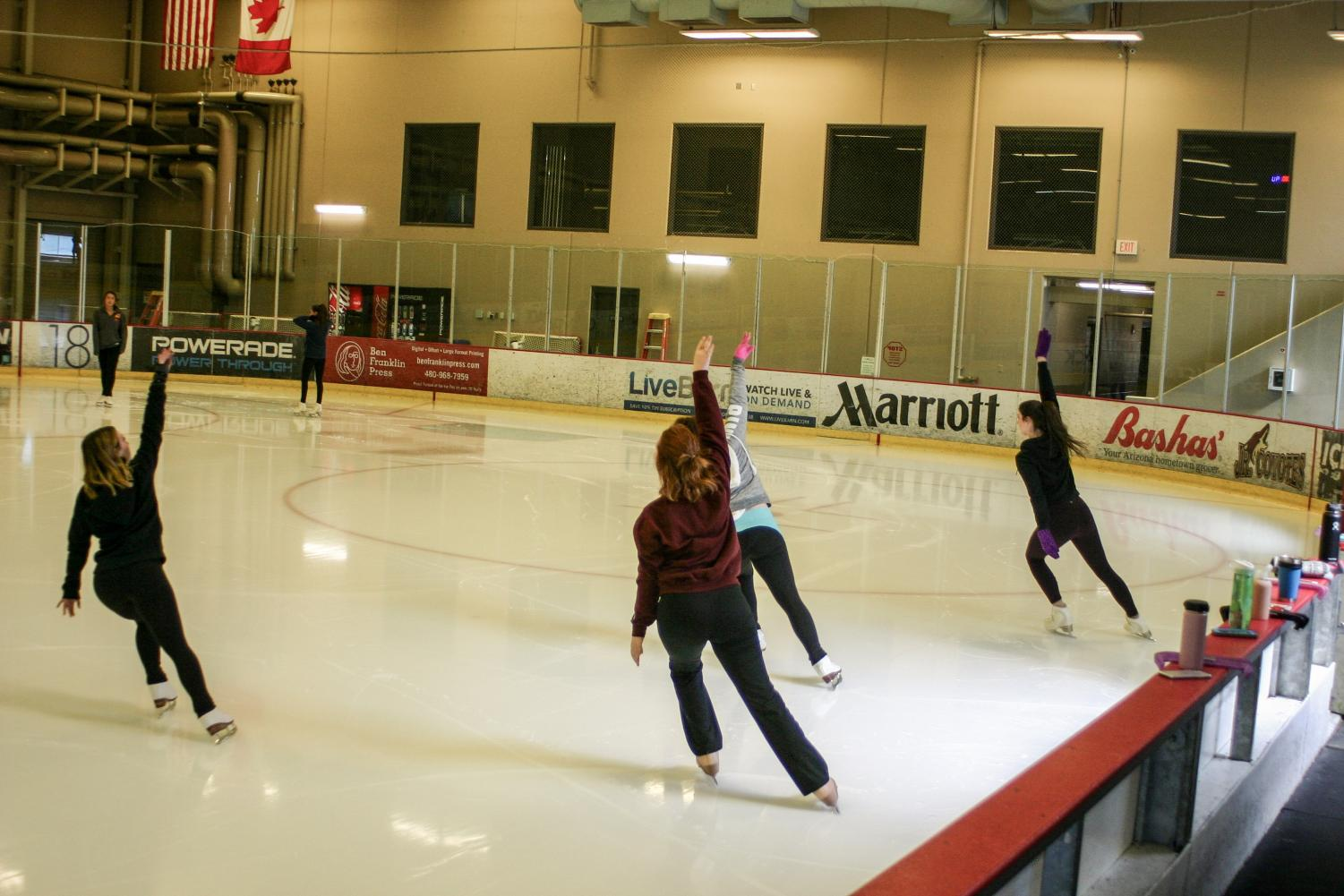 competitors practice at the ICE DEN in Scottsdale and Chandler