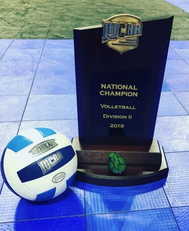 NJCAA Division II Volleyball National Championship trophy