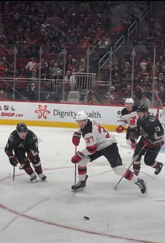 Arizona Coyotes lose 2-1 to New Jersey Devils: New Jersey star winger, Hall, sits out for 'precautionary reasons' amid trade rumors