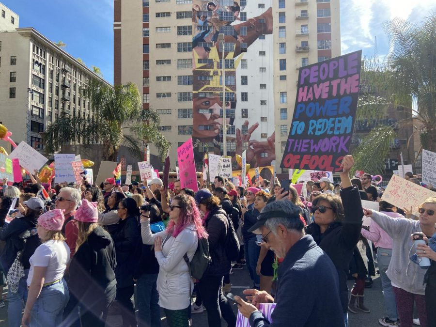 Women's March 2020 in Los Angeles, California
