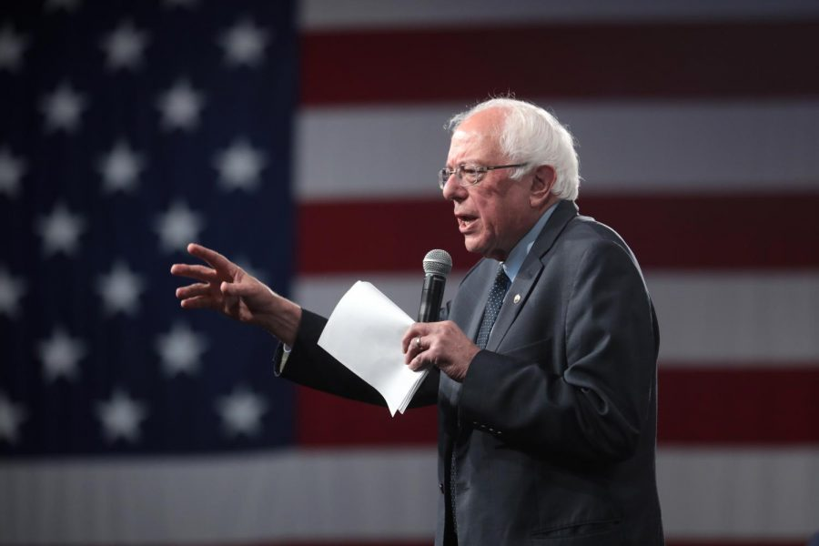Bernie Sanders at a rally in Des Moines, Iowa, August 2019